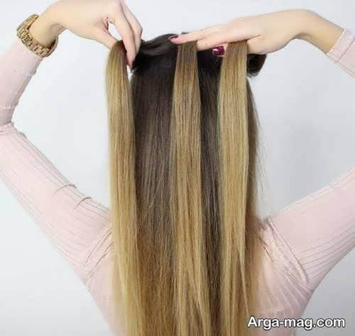 تقسیم موها به سه قسمت