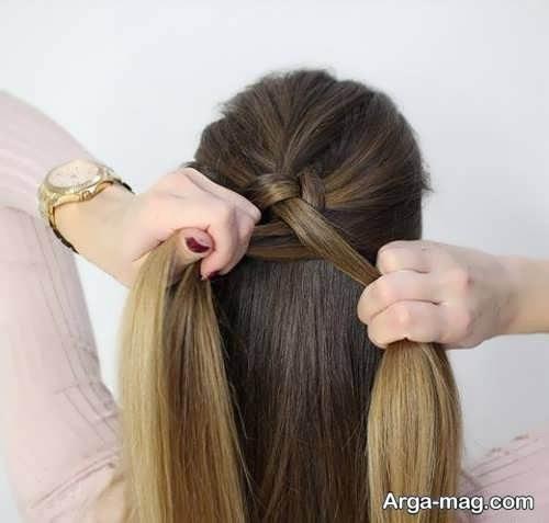 بافت موی شیک و ساده هلندی