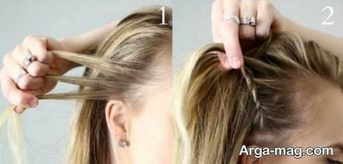 بافت مو ساده تلی