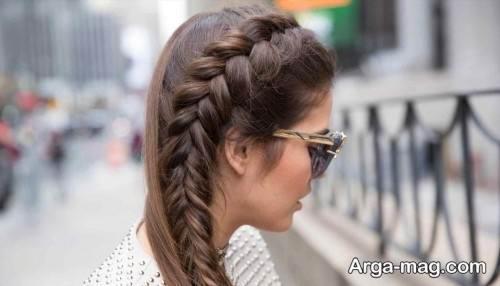 بافت موی دخترانه و ساده