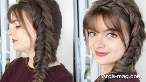 بافت موی دخترانه ساده