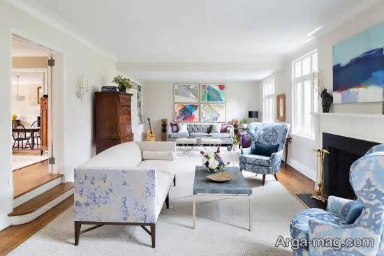 انواع نمونه های طراحی زیبا و مدرن اتاق نشیمن