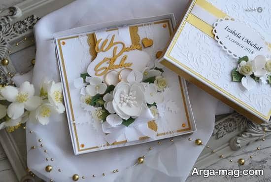کارت عروسی خارجی با طرح زیبا