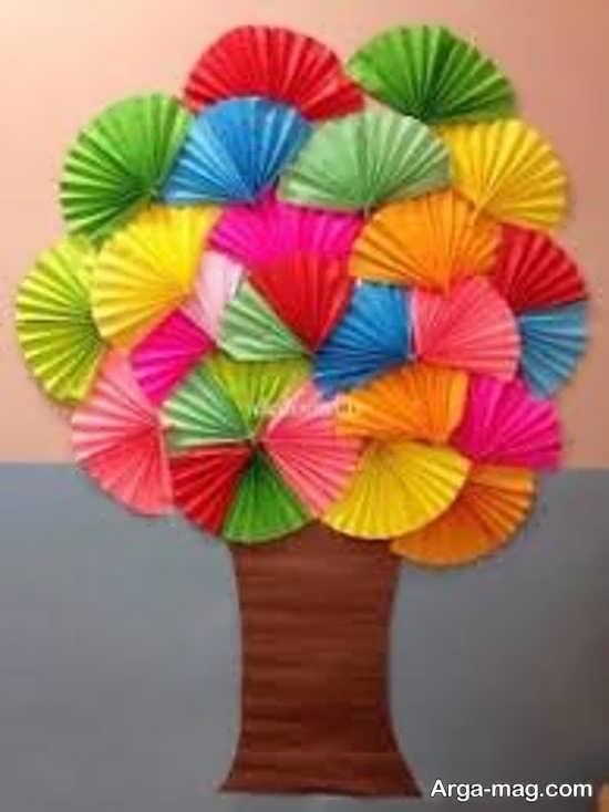 ساخت درخت کاغذی برای روز درختکاری
