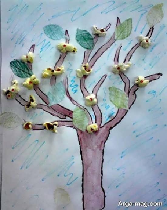 نقاشی درخت سه بعدی برای کودکان