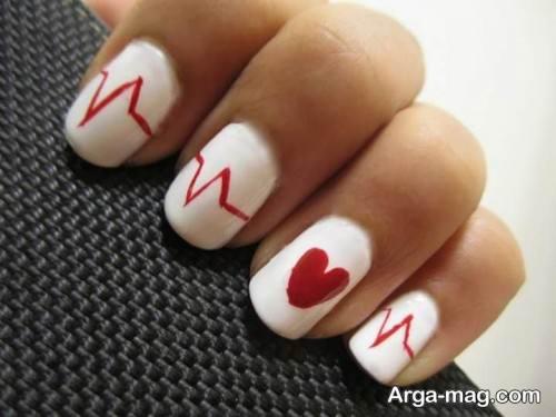 طراحی لاک ناخن مخصوص روز ولنتاین
