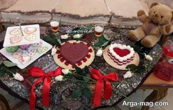 میز ولنتاین عاشقانه و زیبا