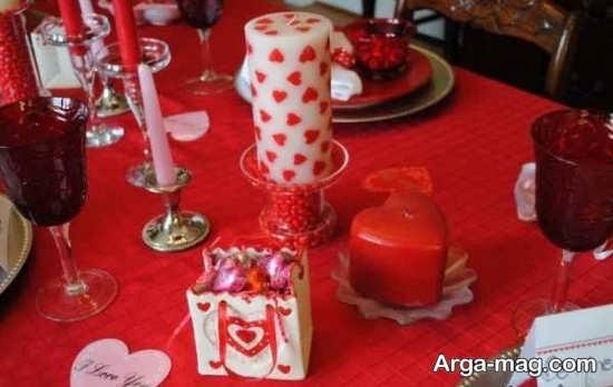 چیدمان میز ولنتاین