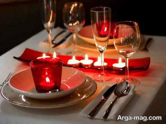تزیینات میز ولنتاین