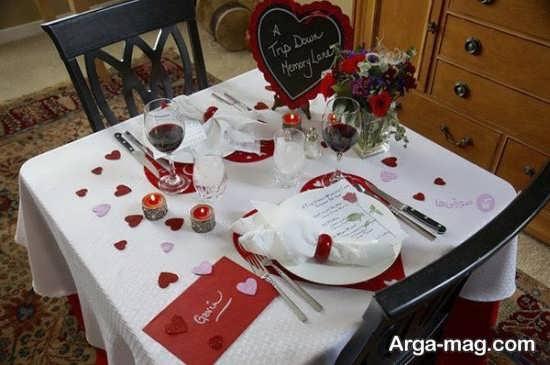 طراحی میز به شکل علاشقانه و رمانتیک