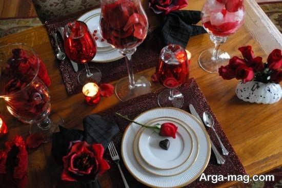 ایده جذاب برای دیزاین میز عاشقانه