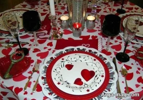 تزیین جذاب میز روز عشق