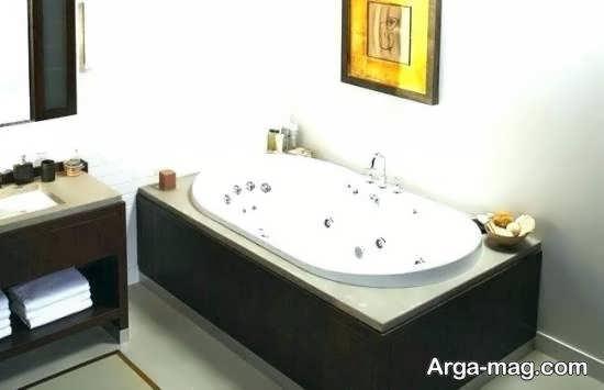 الگوهایی مدرن و مجلل از وان جکوزی برای حمام