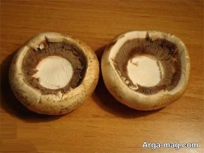 جدا کردن کلاهک قارچ ها