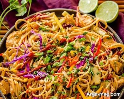 طرز تهیه اسپاگتی با کچاپ