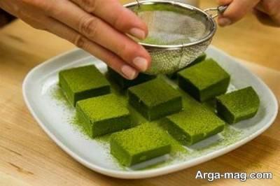 تزیین شکلات چای سبز
