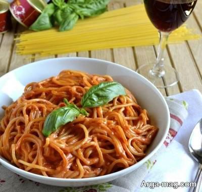 دستور تهیه اسپاگتی با سس کچاپ