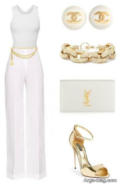 مدل ست لباس سفید و زیبا