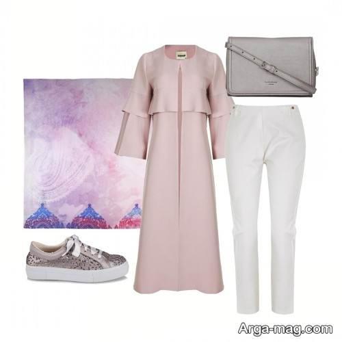 ست لباس صورتی و سفید