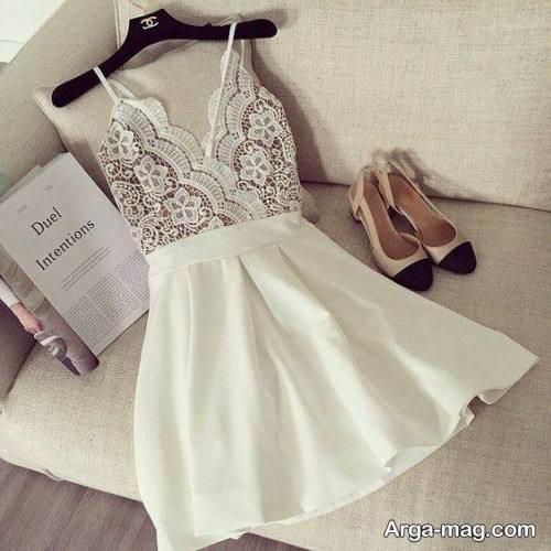 لباس دخترانه سفید