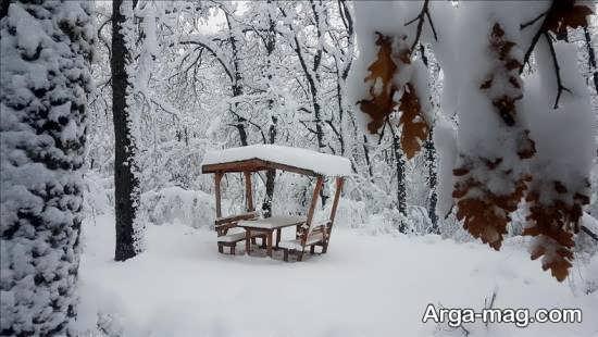 تصویر خاص و جذاب از نمای زمستانی