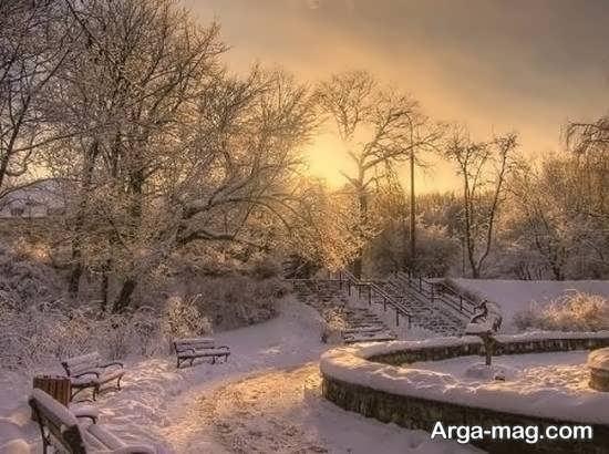سری اول عکس منظره زمستانی
