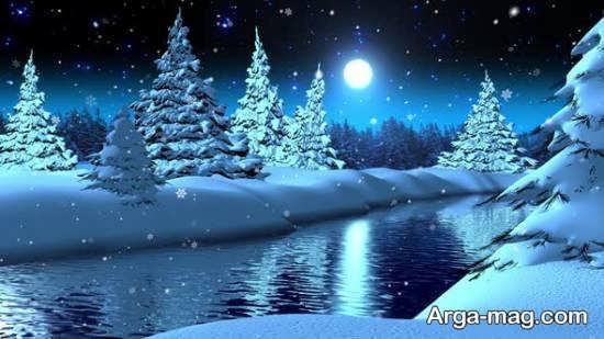 مجموعه از نمای زمستانی زیبا