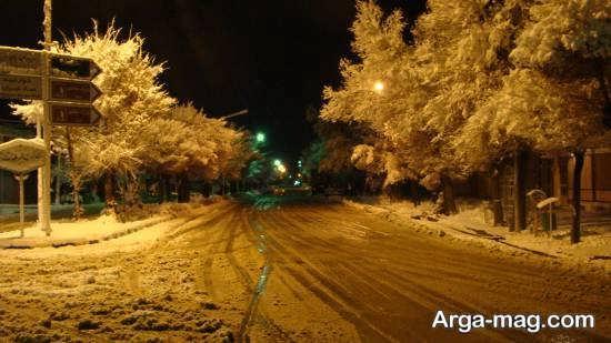 عکاسی مناظر زمستانی در شب