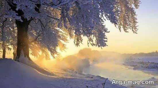 تصویر فوق العاده زیبا از نمای زمستانی