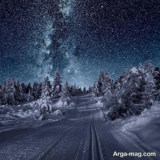 تصویر خاص از نمای زمستانی
