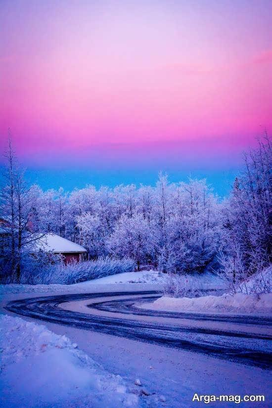 عکس نمای زمستانی رویایی