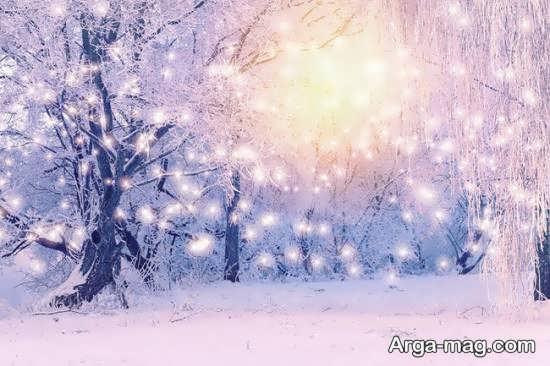 منظره زمستانی جذاب و دیدنی
