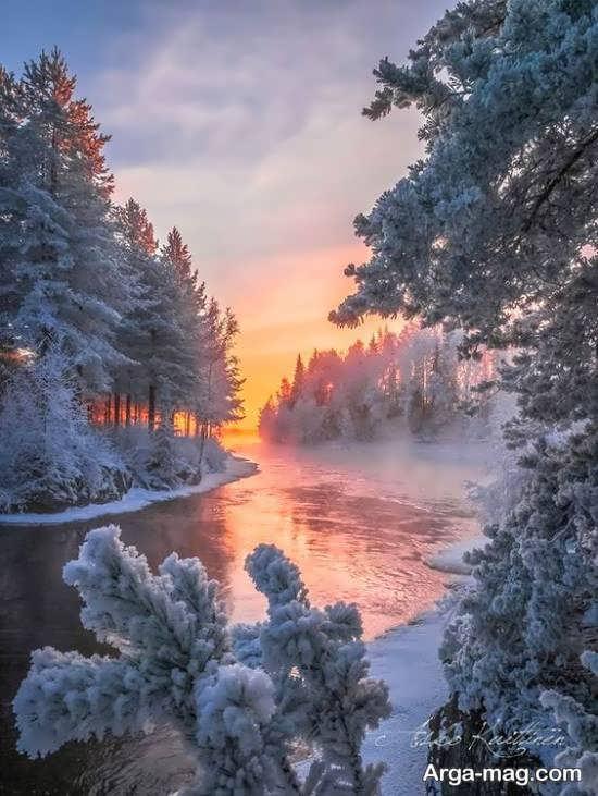 گالری زیبا منظره زمستانی
