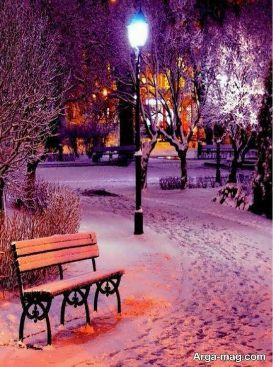 آلبوم زیبا منظره زمستانی