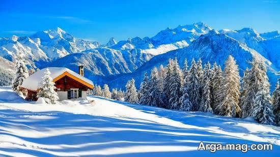 تصویر جذاب از چشم انداز زمستانی