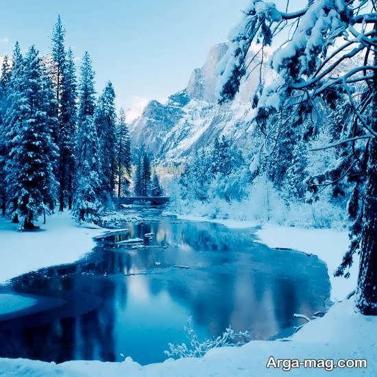 لگوی زیبا منظره زمستانی