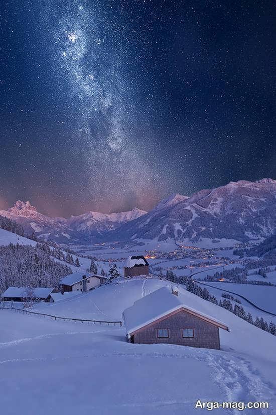 نمای بی نظیر طبیعت زمستانی