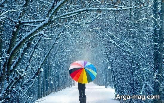 تصویر زیبا و دخترانه در نمای زمستانی