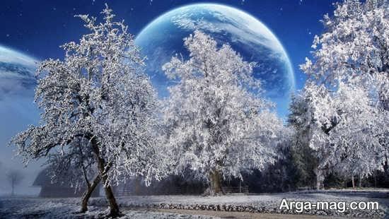 عکس خاص و دیدنی چشم انداز زمستانی