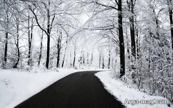 عکس طبیعت زمستانی بسیار خاطره انگی