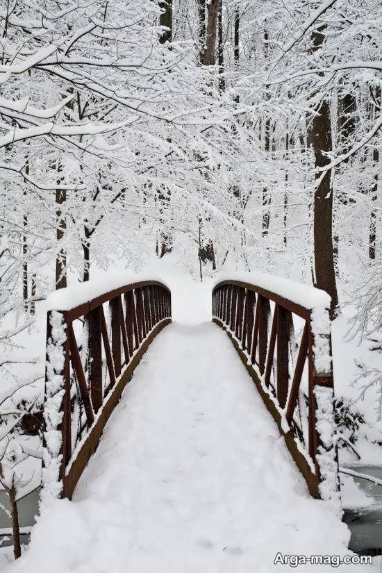 نمای چشم انداز زمستانی
