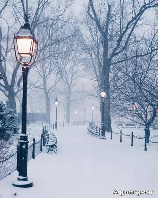 تصویر طبیعت زمستانی