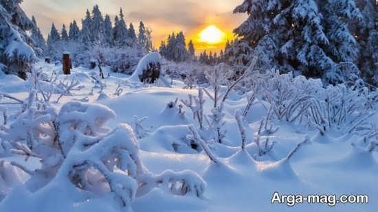 عکس چشم انداز زمستانی