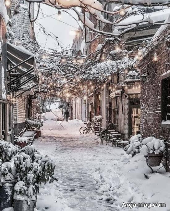 تصویر طبیعت زمستانی زیبا و جذاب
