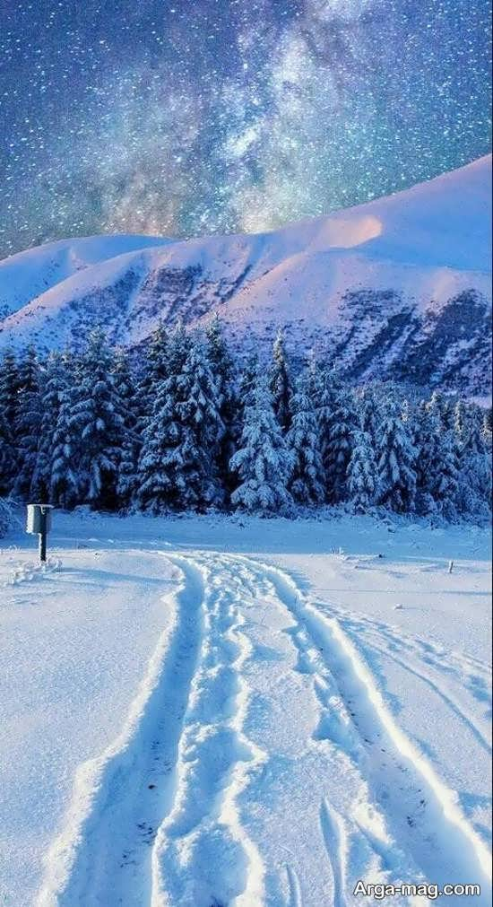 تصویر جدید از منظره زمستانی