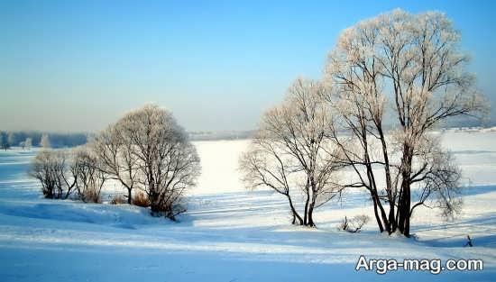 عکس طبیعت زمستانی بسیار زیبا