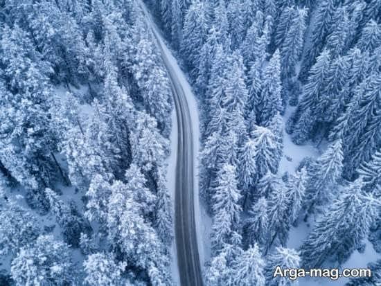 عکس طبیعت زمستانی جذاب و متفاوت