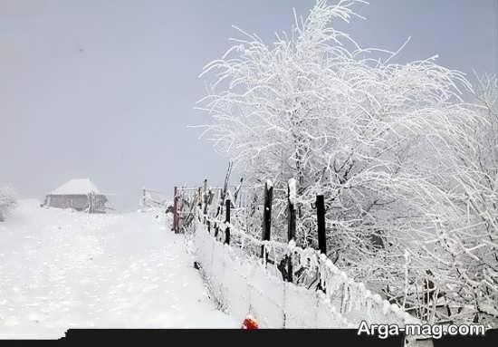 عکس زیبا و متفاوت نمای زمستانی
