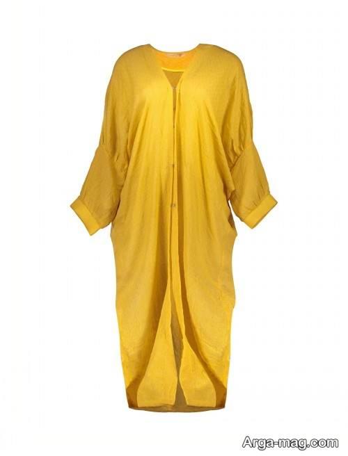 مدل مانتو زرد ساده