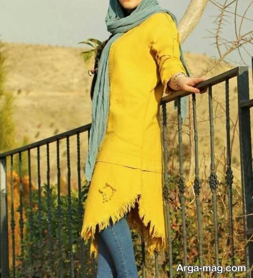 مانتوی زرد دخترانه